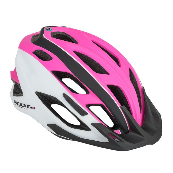 Bicycle helmet Root inmold Size M 53cm-59cm Dial-Fit pink white