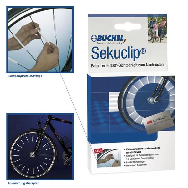 3M Scotchlite spaakreflectoren - Sekuclip van Büchel - 4 stuks