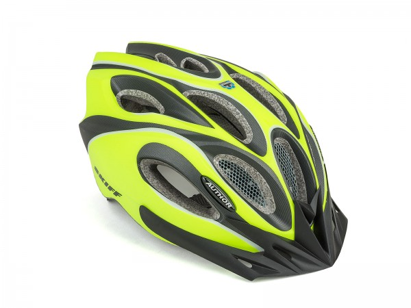 Bicycle helmet Skiff Size L 58cm-62cm Insect protection Dial-Fit yellow