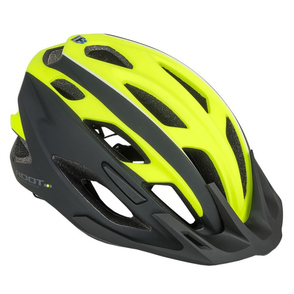 Bicycle helmet Root inmold Size L 59cm-61cm Dial-Fit yellow