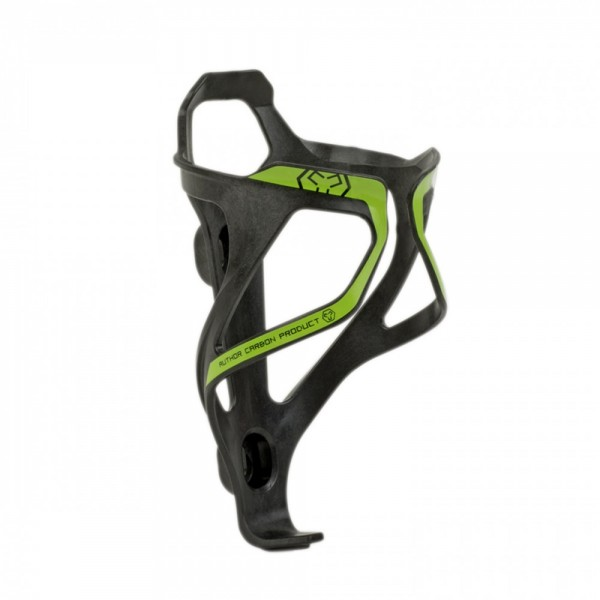 Bicycle bottle cage ACP-X26 carbon 29 grams black / green