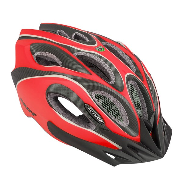 Bicycle helmet Skiff Size L 58cm-62cm Insect protection Dial-Fit red