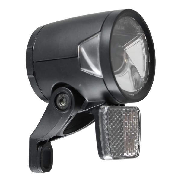 LED headlight H-Black MR8 for dynamo - according to StVZO 180 lumens