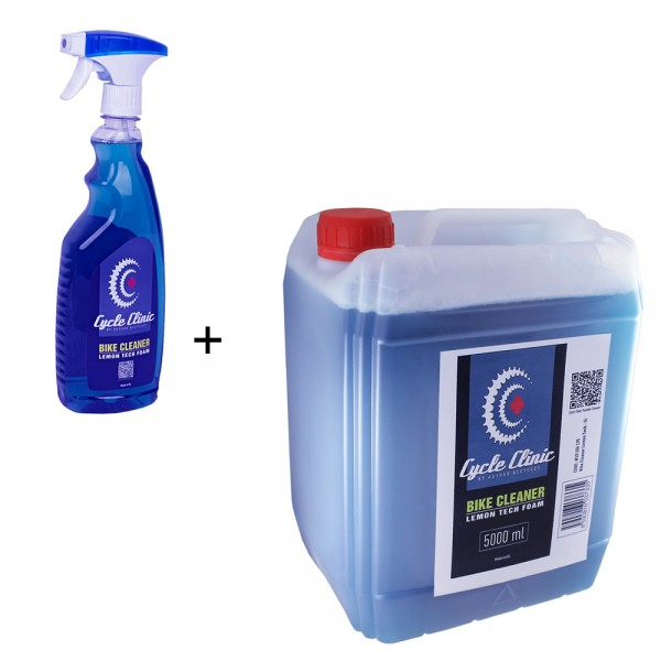 Cleander bicycle TechFoam 750ml bottle 5 l canister