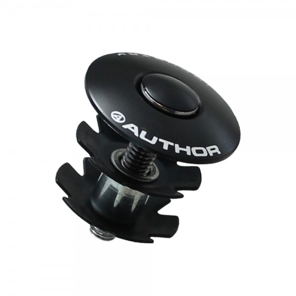 Author Bicycle Star Fangled Nut aluminum ahead 1 1/8 inch black 25.4 mm