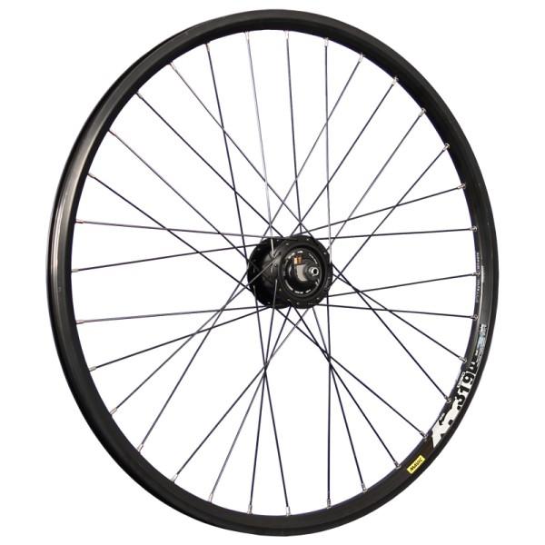 fietswiel 26 inch voorwiel XM319D met naafdynamo Alfine Disc zwart